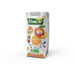JUS COCKTAIL KIDS MULTIFRUITS 20CL BRIQ.