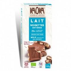 CHOCOLAT LAIT NOISETTES 180G