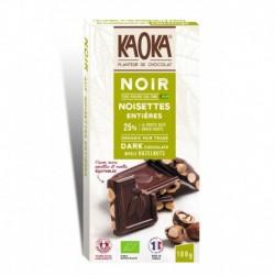 CHOCOLAT NOIR 66% NOISETTES 180G