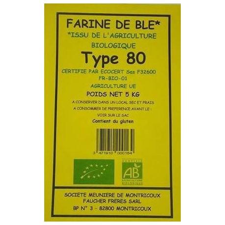 FARINE BLE T80 5KG MOULIN