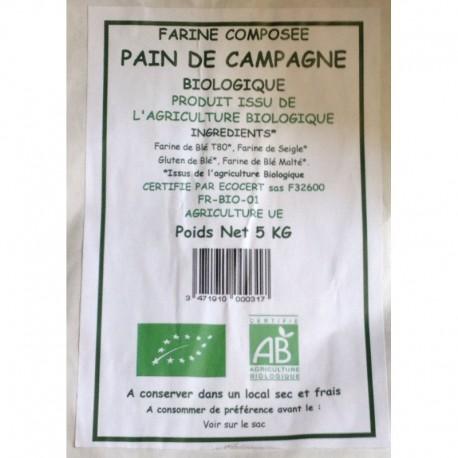 FARINE COMPOSEE PAIN DE CAMPAGNE 5KG