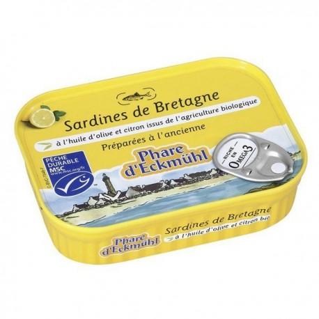 SARDINES* HUILE OLIVE CITRON 135G MSC