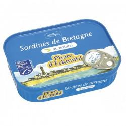 SARDINES* AU NATUREL 135G CERTIFIEES MSC