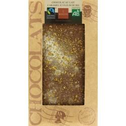 CHOCOLAT LAIT CARAMEL FLEUR DE SEL 100G