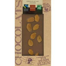 CHOCOLAT LAIT AMANDES 100G