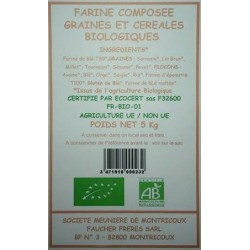 FARINE 6 CEREALES 6 GRAINES 5KG MOULIN