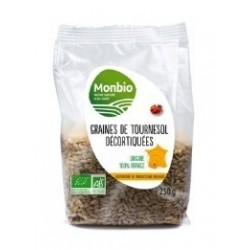 GRAINE DE TOURNESOL DECORTIQUEE MONBIO AB 250G