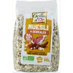 MUESLI DE BASE 500G 4 CEREALES
