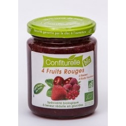 CONFITURE SS 4 FRUITS ROUGES 290G CONFIT PROVENCE