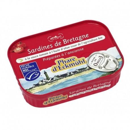 SARDINES*  A LA SAUCE TOMATE ET  HUILE OLIVE BIO 135G