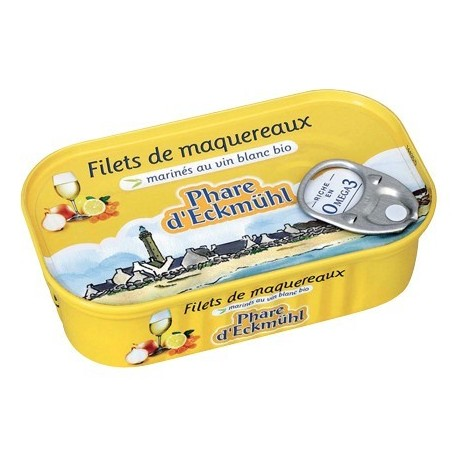 FILETS DE MAQUEREAUX*  AU VIN BLANC BIO 118G