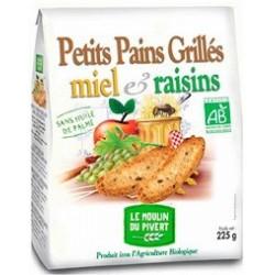 PETIT PAIN GRILLE MIEL RAISIN 225G S/HUILE PALME