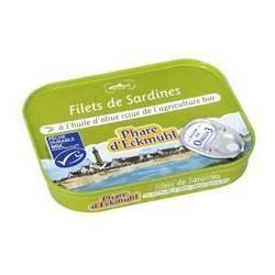 FILETS DE SARDINES* HUILE OLIVE BIO 100G MSC