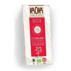 CHOCOLAT NOIR 66% CRANBERRIES CEREALES 100G