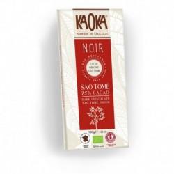 CHOCOLAT NOIR 75% 100G SAO TOME EQUITABLE KAOKA