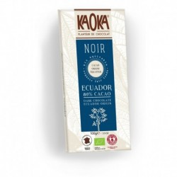 CHOCOLAT NOIR 80% CACAO 100G EQUITABLE
