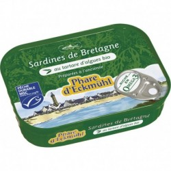 SARDINES* AU TARTARE D\'ALGUES  135G MSC
