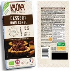 TABLETTE DESSERT NOIR CORSE 72% 200G