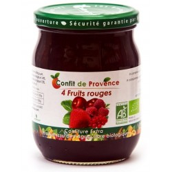 CONFITURE 4 FRUITS ROUGES 650G CONFIT PROVENCE