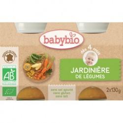 POT BEBE JARDINIERE DE LEGUMES 2X130G 4 MOIS BABYBIO