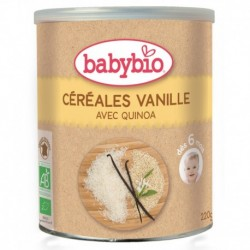PREPARATION CEREALES VANILLE 220G 6 MOIS BABYBIO