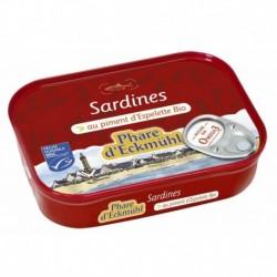 SARDINES* AU PIMENT D  ESPELETTE BIO CERTIFIE MSC 135G