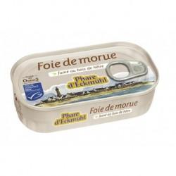 FOIE DE MORUE* FUME AU BOIS DE HETRE CERTIFIE MSC 121G
