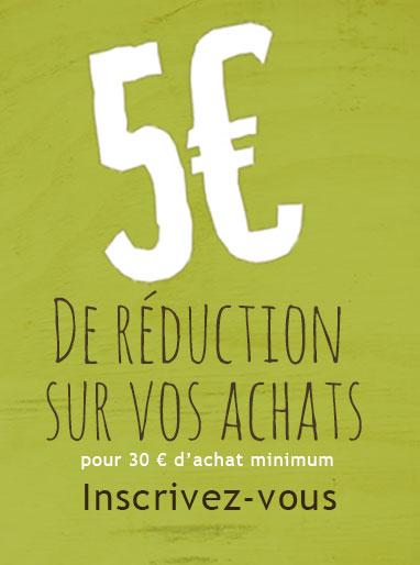 5€ offerts à l'inscription au programme de fidélité Sedona